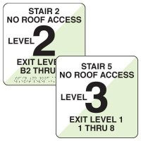 NFPA Stairwell Signs