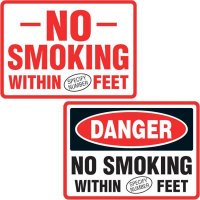 Custom No Smoking Industrial Signs