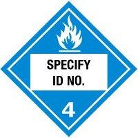 Custom Class 4 Flammable DOT Placard
