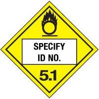 Custom Class 2 Oxygen DOT Placard