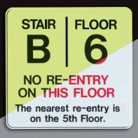 Custom Re-Entry Stair Sign