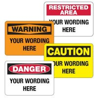 Custom Safety and Security Signs