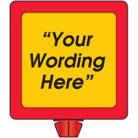 Custom-Worded Safety Cone Sign