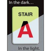Custom Glowing Stair Identification Sign