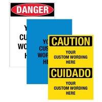 Custom Super-Stik Adhesive Signs