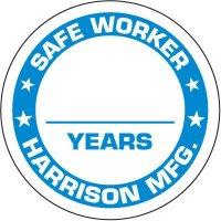 Custom Worded Safe Worker Label