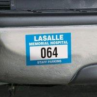 Custom Vinyl Parking Permits - Bumper Mount