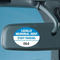 Custom Vinyl Parking Permits - Mirror Mount