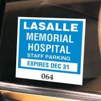 Custom Vinyl Parking Permits - Window Mount