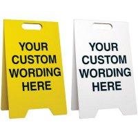 Custom-Worded Floor Stands