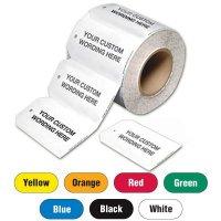 Custom Worded Plastic Tags On-A-Roll