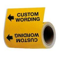 Custom Wrap Around Adhesive Roll Pipe Markers