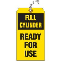 Full Cylinder Ready For Use Tag
