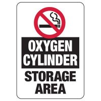 No Smoking Oxygen Cylinders Sign