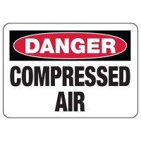 Danger Compressed Air Sign