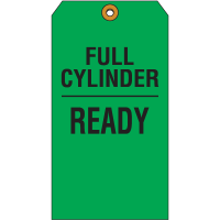 Cylinder Status Tags - Full Cylinder Ready