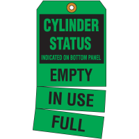 Cylinder Status Tags- Cylinder Status Indicated On Bottom Panel