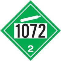 1072 Oxygen - DOT Placards