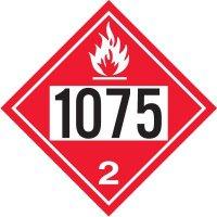 1075 Liquified Petroleum Gas - DOT Placards