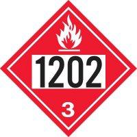 1202 Gas, Oil, Diesel Fuel, Heating Oil - DOT Placards