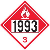 1993 Combustible Liquid, N.O.S. - DOT Placards