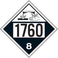 1760 Corrosive Liquid, N.O.S. - DOT Placards