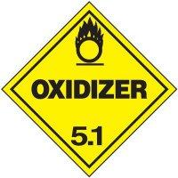 Oxidizer 5.1 D.O.T. Placards
