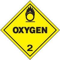 Oxygen 2 D.O.T. Placards