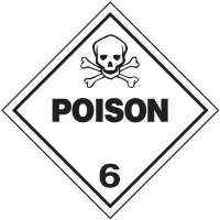 Poison 6 D.O.T. Placards