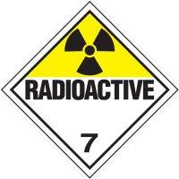 Radioactive 7 D.O.T. Placards