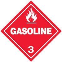 Gasoline 3 D.O.T. Placards