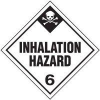 Inhalation Hazard 6 D.O.T. Placards