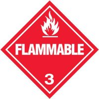 Flammable 3 D.O.T. Placards