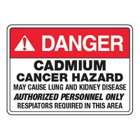 Cadmium Authorized Personnel Only - CA Chemical Labels