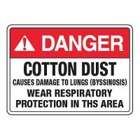 Cotton Dust Hazard Wear PPE - California Chemical Labels