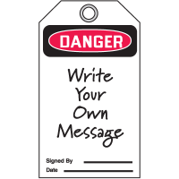 Danger Header Only - Accident Prevention Safety Tags