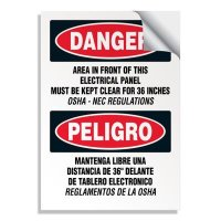 Voltage Warning Labels - Danger Keep Clear