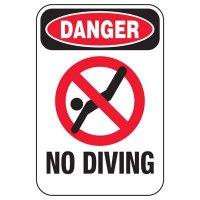 Danger No Diving - Pool Signs