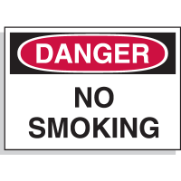 Danger No Smoking - Hazard Warning Labels