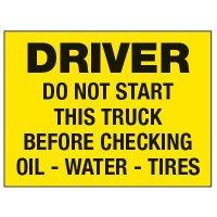 Dashboard Safety Decals