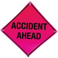 Crash Ahead Deluxe Quick Deploy™ Signs