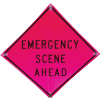 Emergency Scene Ahead Deluxe Quick Deploy™ Signs and Stand - TrafFix Devices 25048-SFP-ESA