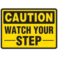 Watch Your Step Traffic Cone Signs