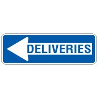 Directional Arrow Traffic Signs - Deliveries