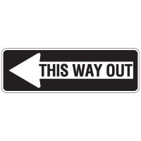Directional Arrow Traffic Signs - This Way Out