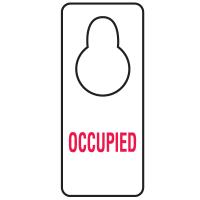 Door Knob Hangers- Occupied