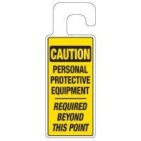 Door Knob Hangers - Caution PPE Required
