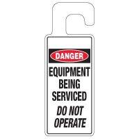 Door Knob Hangers - Danger Equipment Being Serviced