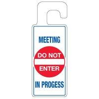 Door Knob Hangers - Meeting In Progress