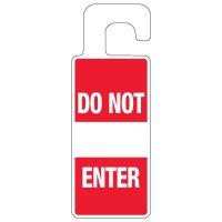 Door Knob Hangers - Red Do Not Enter